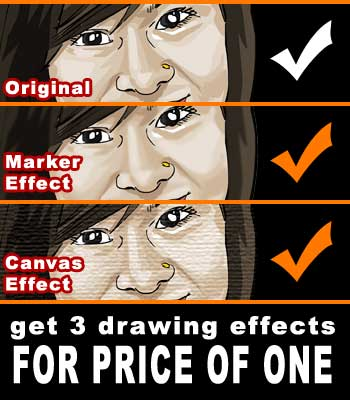 Get 3 drawing effects for price of one